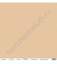 Бумага для скрапбукинга односторонняя 30.5х30.5 см, 190 гр/м, коллекция Такие мальчишки , лист Шеврончик