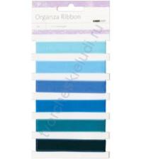 Набор лент из органзы Blue, шир. 13 мм, 6 оттенков по 1 метру