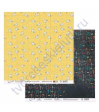 Бумага для скрапбукинга двусторонняя коллекция Синус-Косинус, 30.5х30.5 см, 190 гр/м, лист 2