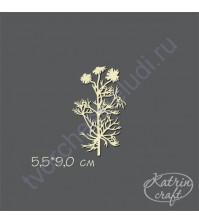 Чипборд Ромашка полевая, 5.5х9 см