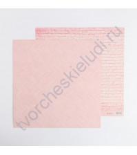 Кардсток с рисунком Розовые сны, 30.5х30.5 см, 270 гр/м2