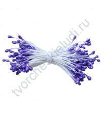 Тычинки двусторонние Фиолетовые, 55х3 мм, 100 шт, 1 пучок