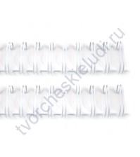 Пружинка для брошюровки, диам. 22.2 мм (7/8 дюйма), цвет белый