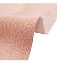 Кожзам переплетный с тиснением под холст на полиуретановой основе плотность 230 гр/м2, 50х35 см, цвет F342-розовый