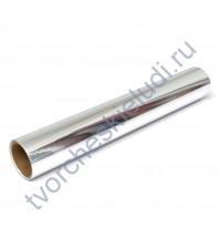 Винил клеевой Oracal, 23 мкм, цвет глянцевое серебро, 25х25 см (+/- 0.5см)