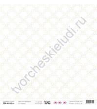 Бумага для скрапбукинга односторонняя, коллекция Сказки на ночь, 30.5х30.5 см, 190 гр\м2, лист Кружево