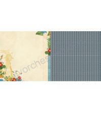 Бумага 30х30 см Simple Pleasures, коллекция Spring Market, US1788D