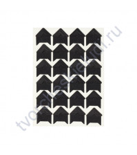 Уголки клеящиеся для фотографий бумажные, 15х15 мм, 24 шт, цвет черный