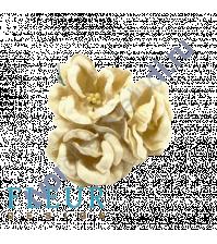 Цветы Магнолии кремовые, размер цветка 4 см, 3 шт