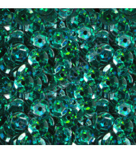 Пайетки круглые с эффектом голографик 6 мм, 10 гр, цвет 47-темно-зеленый