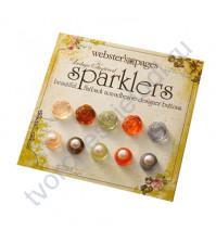 Набор декоративных пуговиц Sparklers Розы и жемчужины, 10 шт