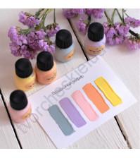 Набор акриловых красок Tury Design Mini на водной основе, 5 флаконов по 7 гр, цвет Воздушный зефир
