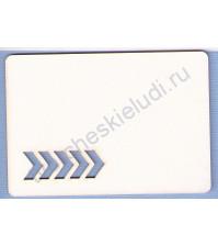Чипборд Карточка для Project life Стрелки, размер 67х95 мм