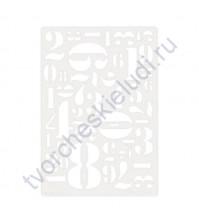 Трафарет-маска Цифры, размер 11.5x16.5 см