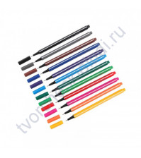 Набор линеров Attache Rainbow, толщина линии 0.4 мм, 12 цветов