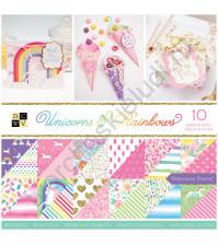 Набор двусторонней бумаги с глиттером Unicorns and Rainbows, 30.5х30.5 см, 36 листов (ЦЕНА УКАЗАНА ЗА 1/2 ЧАСТЬ НАБОРА - 18 листов)