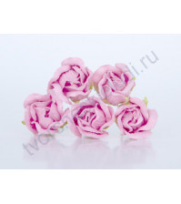 Бутоны роз большие полураскрытые, 5 шт, цвет св.розовый