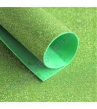 Фоамиран с глиттером, 1.8 мм, формат А4, цвет салатовый блеск
