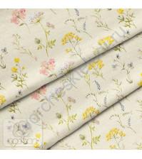 Ткань для рукоделия Полянка в дневном свете, 100% хлопок, плотность 150 гр/м2, размер отреза 50х40 см