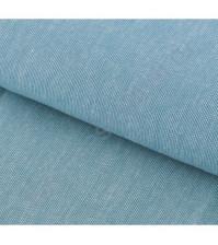 Ткань для рукоделия 100% хлопок, плотность 110г/м2, размер 47х50см (+/- 2см), коллекция Мягкая джинса Бирюзовая с декоративной плашкой