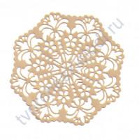 Вырубка из дизайнерской бумаги Салфетка-3, диаметр 10 см, цвет в ассортименте