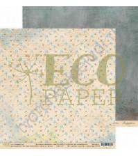 Бумага для скрапбукинга двусторонняя 30.5х30.5 см, 250 гр/м, коллекция Бабушкин сад, лист Игры во дворе
