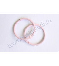 Кольца для альбомов 35 мм, 2 шт, цвет розовый