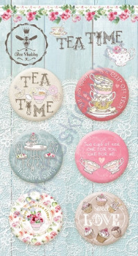 Набор фишек (топс) из металла Tea Time, 6 штук