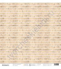 Бумага для скрапбукинга односторонняя, коллекция Бумажные птицы, 30.5х30.5 см, 190 гр\м2, лист Золото