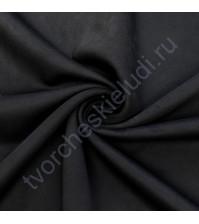 Искусственная замша двусторонняя, плотность 310 г/м2, размер 50х75 см (+/- 2см), цвет черный