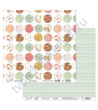 Бумага для скрапбукинга двусторонняя коллекция Ловец снов, 30.5х30.5 см, 190 гр/м, лист 4