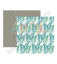 Бумага для скрапбукинга двусторонняя Я дарю тебе весну, 190 гр/м2, 30.5х30.5 см, лист Трава-мурава