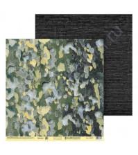 Бумага для скрапбукинга двусторонняя 30.5х30.5 см, 180 гр/м2, лист Природный камуфляж