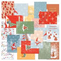 Набор карточек для журналинга Новогодние хлопоты, плотность 190 гр/м, 20 штук