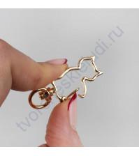 Карабин Кошка, 1.7х4.2 см, цвет золото