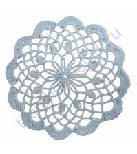 Cалфетка кружевная вязаная, диаметр 15 см, цвет белый