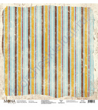 Бумага для скрапбукинга односторонняя Ретро кафе, 30.5х30.5 см, 190 гр/м, лист Полоска