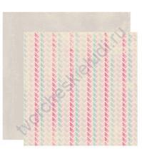 Бумага для скрапбукинга двусторонняя коллекция Flourish, 30.5х30.5 см, 220 гр/м, лист Interlock
