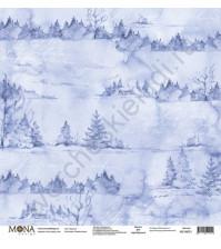 Бумага для скрапбукинга односторонняя Зимняя сказка, 30.5х30.5 см, 190 гр/м, лист Морозко