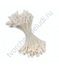Тычинки двусторонние матовые 2.5 мм, 160 шт, цвет белый