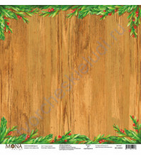 Бумага для скрапбукинга односторонняя Зимняя сказка, 30.5х30.5 см, 190 гр/м, лист Старик-годовик