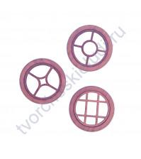 Набор круглых Окошек-1, 3 элемента, диаметр 49 мм, цвет амарант