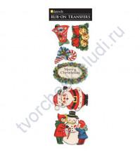 Набор натирок Merry Christmas, размер листа 8х25 см