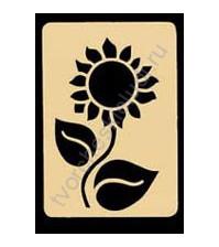 Трафарет металлический для тиснения Sunflower, 5.5х8 см