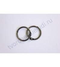 Кольца для альбомов 25 мм, 2 шт, цвет черненое серебро