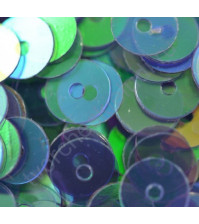 Пайетки плоские круглые с эффектом перламутр 6 мм, 10 гр, цвет 097-сине-зеленый
