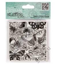 Штамп резиновый Бабочки, 10х10 см