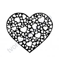 Декор из термотрансферной пленки Сердечки в сердце, 8.6х10 см, цвет в ассортименте