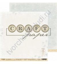 Бумага для скрапбукинга двусторонняя 30.5х30.5 см, 190 гр/м, коллекция Зимний ангел, лист Нам уютно