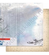 Бумага для скрапбукинга двусторонняя, коллекция Шепот, 30.3х30.3 см, 200 гр/м, лист 005
